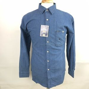Dickies Long Sleeve Button Front Checkered Shirt